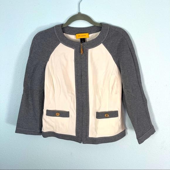 St John Colorblock Full Zip Blazer